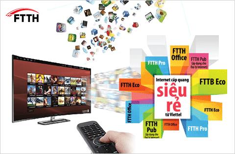 Một số gói combo Internet và truyền hình số Viettel
