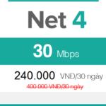 Gói cước FTTH Net 4 - 30Mbps