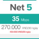 Gói cước FTTH Net 5 - 35Mbps