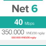 Gói cước FTTH Net 6 - 40Mbps