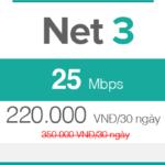 Gói cước FTTH Net 3 - 25Mbps