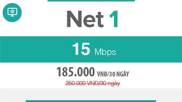 Gói cước FTTH Net 1 – 15Mbps